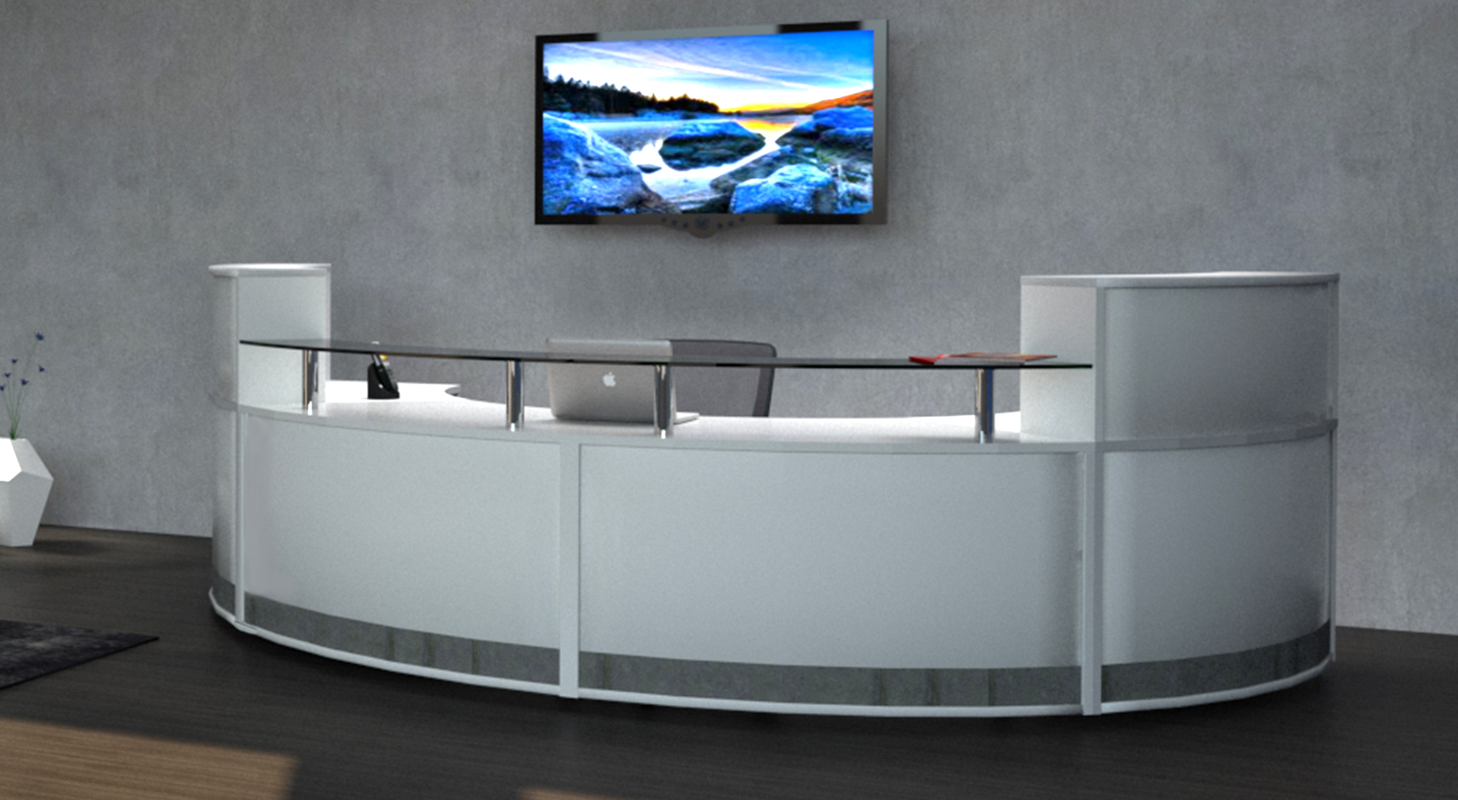 Reception-counter-display