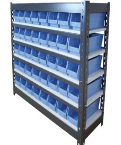Rivet Bin Shelving Unit