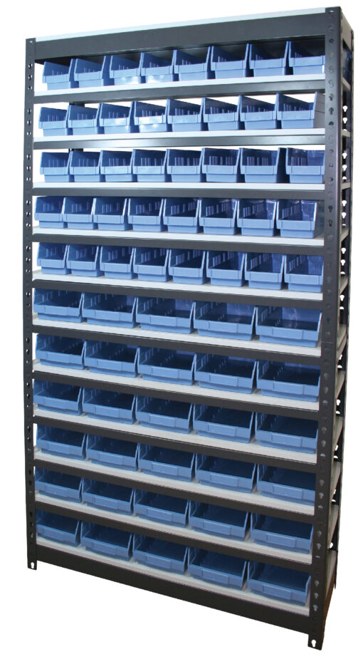 Rivet Bin Shelving Unit -Tall