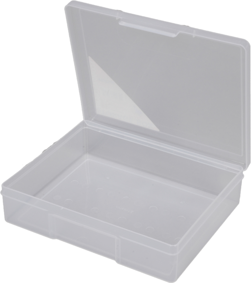1H-029B - 1 Compt Clear Storage Box Open