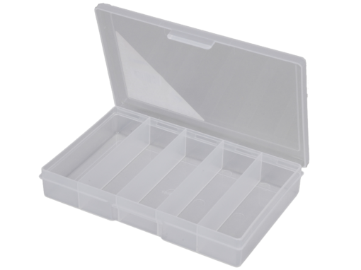 1H-030B - 5 Compt Clear Storage Box Open