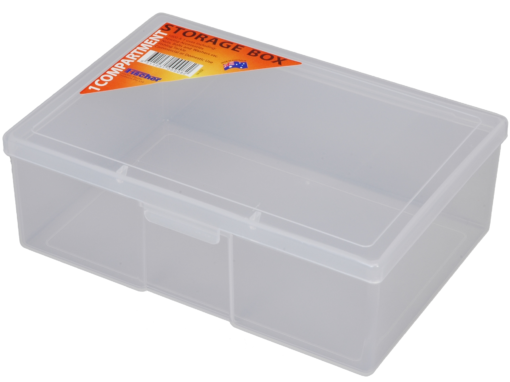 1H-032a - 1 Compt Clear Storage Box