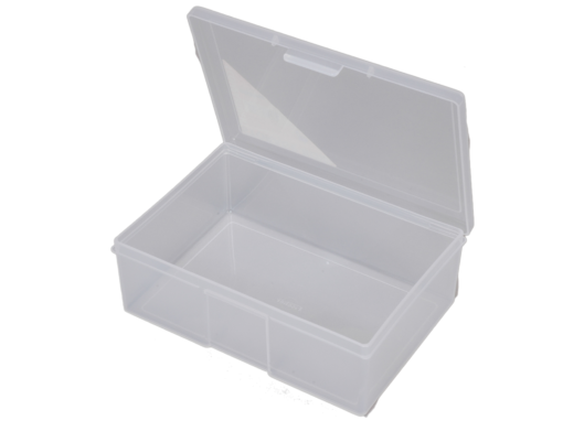 1H-032b - 1 Compt Clear Storage Box Open