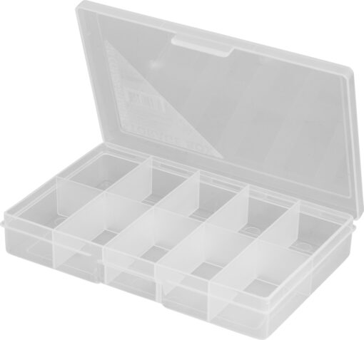 1H-033a - 10 Compt Clear Storage Box Open 10 compt small