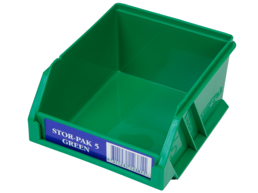 Green 1H-060G Fischer Plastics Stor-Pak 5