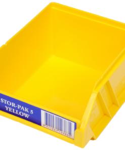 Yellow 1H-060Y Fischer Plastics Stor-Pak 5