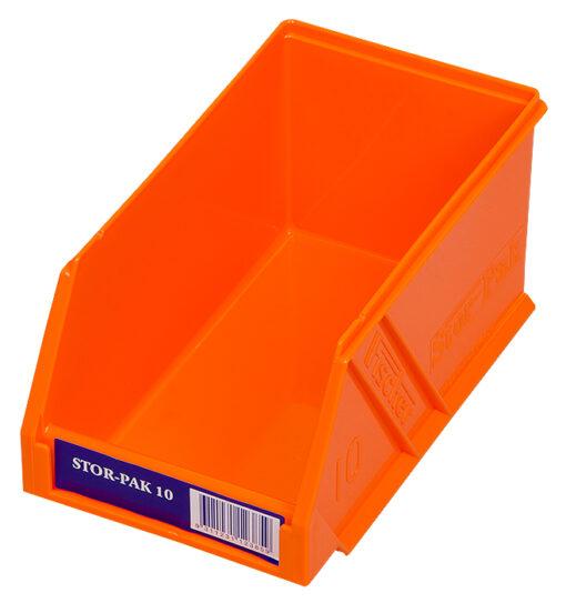 Orange 1H-061O Fischer Plastics Stor-Pak 10