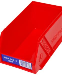 Red 1H-061R Fischer Plastics Stor-Pak 10
