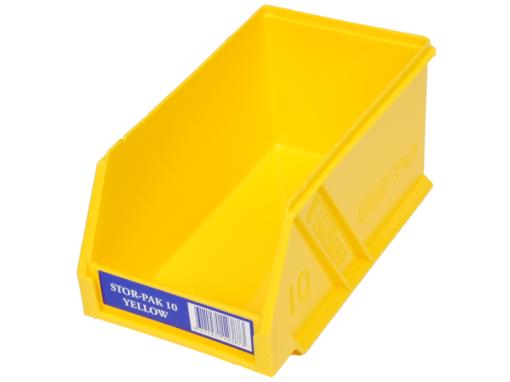 Yellow 1H-061Y Fischer Plastics Stor-Pak 10