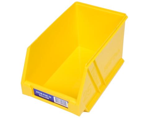 Yellow 1H-062Y Fischer Plastics Stor-Pak 25