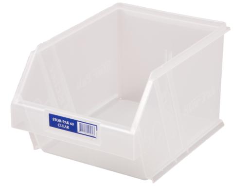 Clear 1H-063C Fischer Plastics Stor-Pak 60