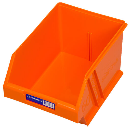 Orange 1H-063O Fischer Plastics Stor-Pak 60