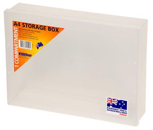 1H-088 1 Compt Fischer Plastics A4 Storage Box
