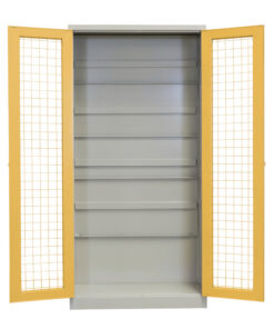 Gerry Brown's Shelving Mesh Door Security Cupboard