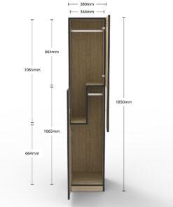 Step Door Locker - Melamine